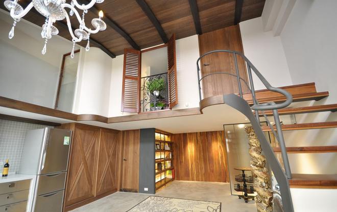 客厅图片来自四川岚庭装饰工程有限公司在暖心轻推 53平地中海摇篮的分享