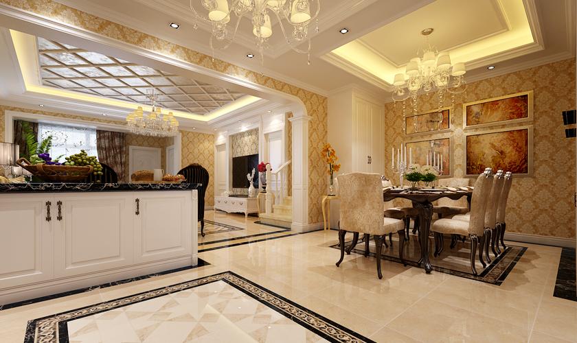 客厅图片来自青岛威廉装饰在龙湖别墅的分享