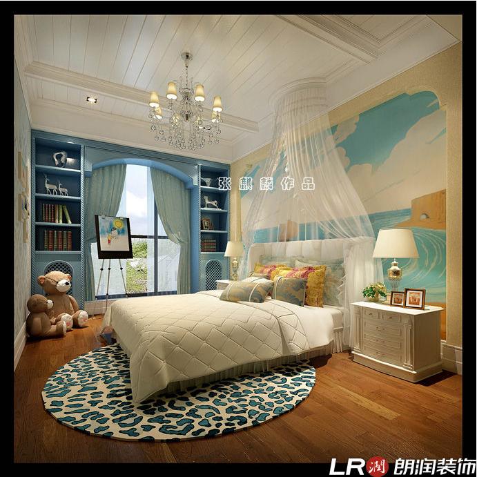 混搭 三居 四居 别墅 跃层 美式 卧室图片来自朗润装饰工程有限公司在城南一号245平米美式风格的分享
