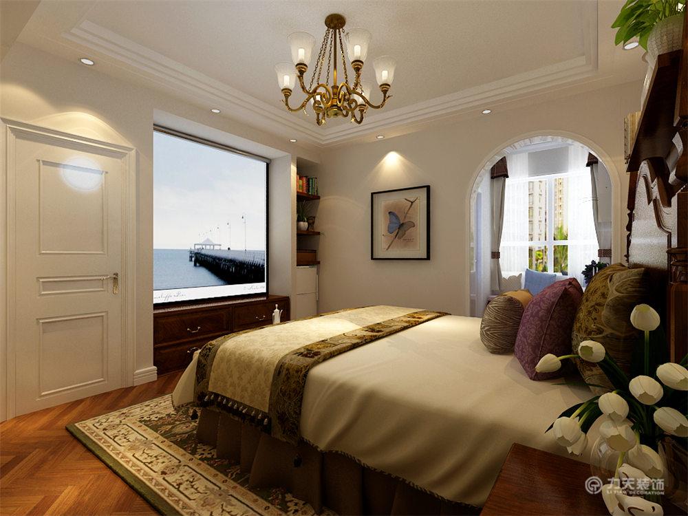 美式 二居 白领 收纳 80后 小资 卧室图片来自阳光力天装饰在力天装饰-红星国际107㎡的分享