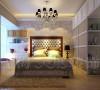 昌建誉峰86平两室两厅时尚现代装修样板间效果图——卧室效果图
