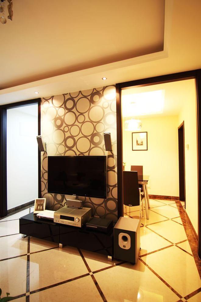 二居 客厅图片来自四川岚庭装饰工程有限公司在潮流小舒适现代简约风格!的分享