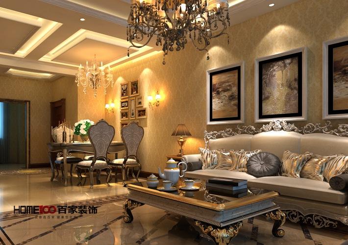 客厅图片来自百家装饰-小李在金地长青湾125平欧式的分享