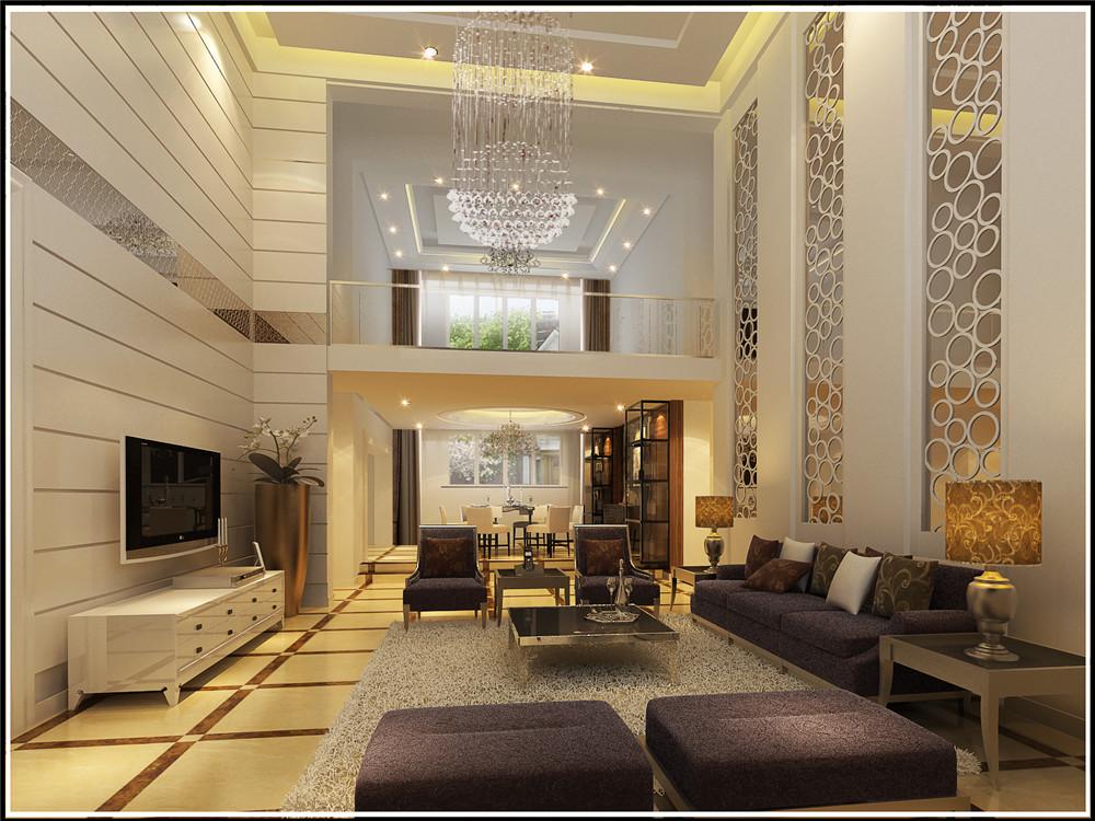 简约 别墅 客厅图片来自实创装饰上海公司在350平联排别墅现代简约设计的分享