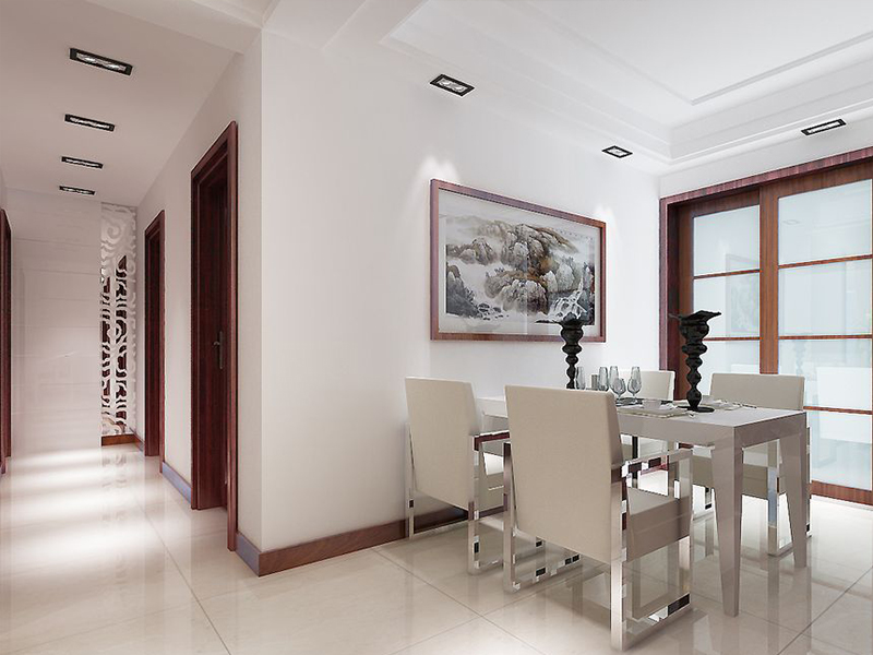 简约 二居 餐厅图片来自青岛德隆装饰在现代-银座华府的分享