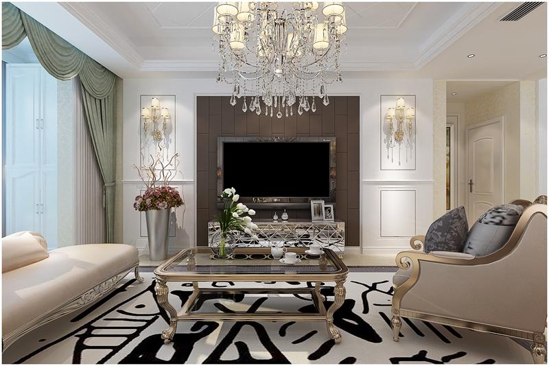 简欧 四居室 大气装修 实创 客厅图片来自快乐彩在花样年华简欧风格装修效果图的分享