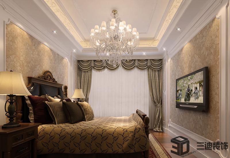 别墅 混搭 大户 卧室图片来自三迪装饰在曦城别墅-舒适与意境的有机结合的分享