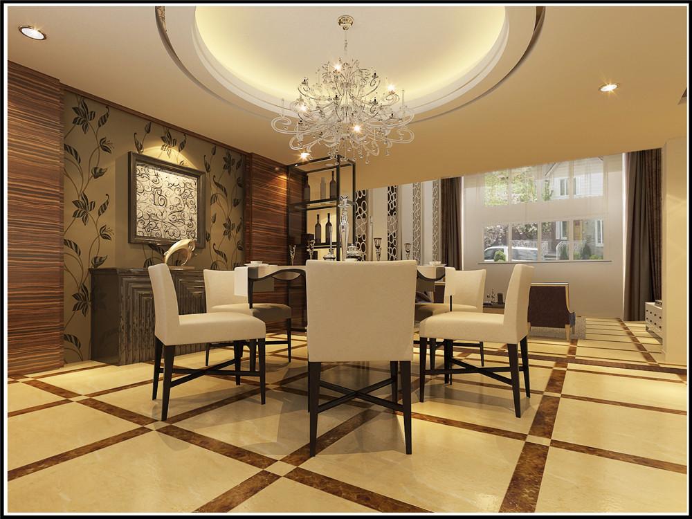 简约 别墅 餐厅图片来自实创装饰上海公司在350平联排别墅现代简约设计的分享