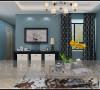 昌建誉峰86平两室两厅时尚现代装修样板间效果图——客厅电视背景墙