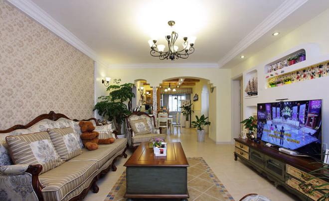 二居 混搭 客厅图片来自四川岚庭装饰工程有限公司在清新两居室,美式变田园的分享