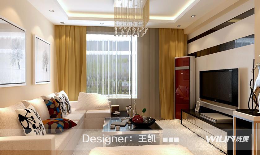 装修设计 装修设计师 青岛装饰 装修公司 威廉装饰 客厅图片来自青岛威廉装饰在金光丽园的分享