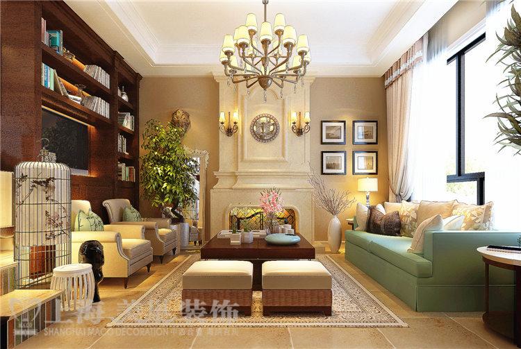 三居 小资 80后 别墅 白领 客厅图片来自美巢装饰--李凌晨在普罗旺世140平美式乡村装修效果的分享