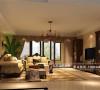 保利康桥198㎡装修—美式风格—客厅细节效果图图