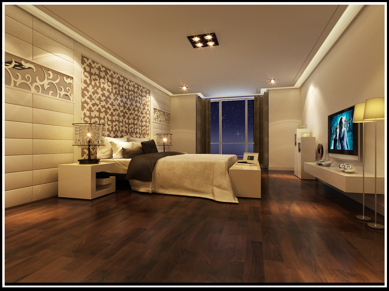 简约 别墅 卧室图片来自实创装饰上海公司在350平联排别墅现代简约设计的分享