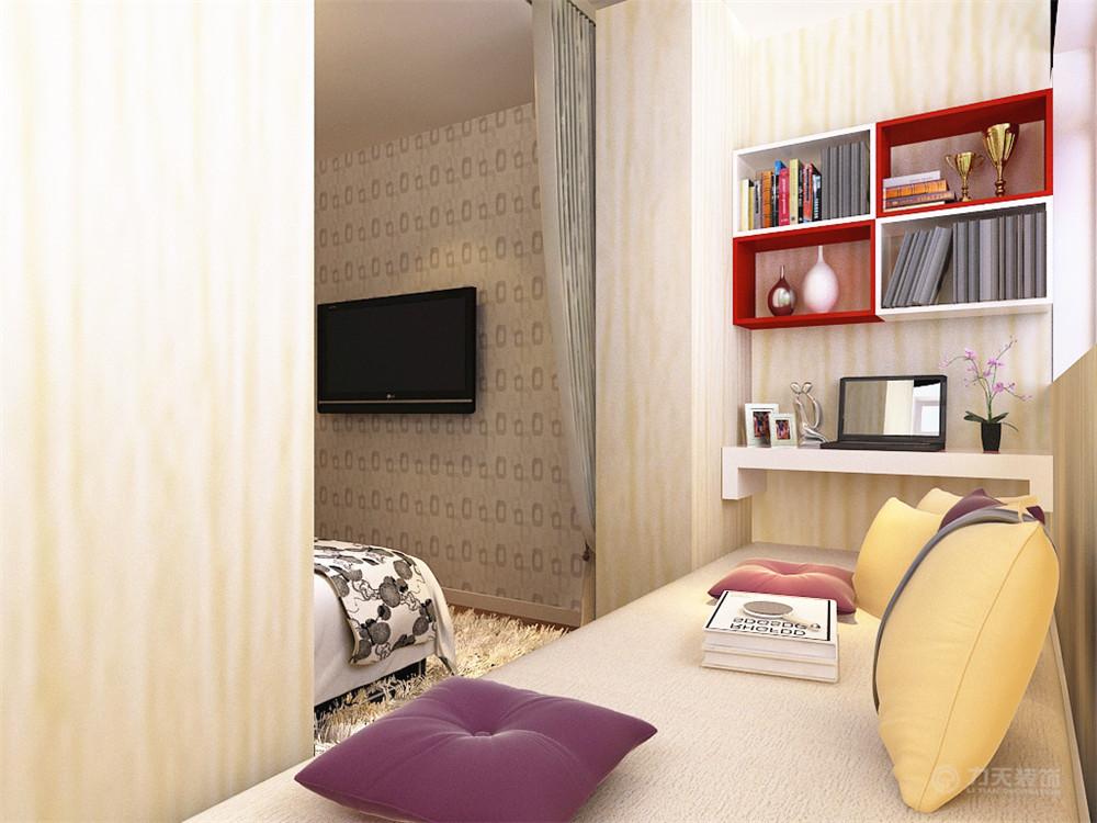 简约 二居 白领 收纳 80后 小资 卧室图片来自阳光力天装饰在力天装饰-中山门84㎡的分享