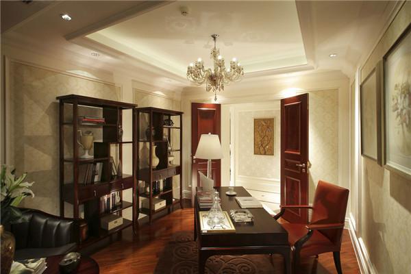 日升装饰 书房图片来自装修设计芳芳在造简欧大气风 自然典雅高贵气质的分享