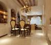 整个空间以浅色为主色调,配合柔和的灯光,让人感觉家的温存,那拥有浪漫花纹茶色镜子与榉木饰面板的背景墙
