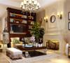 郑州普罗旺世140平错层三室三厅美式乡村风格装修效果图-客厅装修效果图