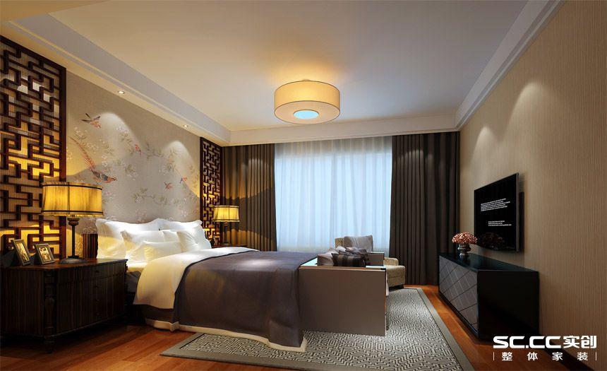简约 中式 三居 白领 收纳 80后 小资 卧室图片来自实创装饰百灵在撷古涵今新中式148世华龙樾装修的分享