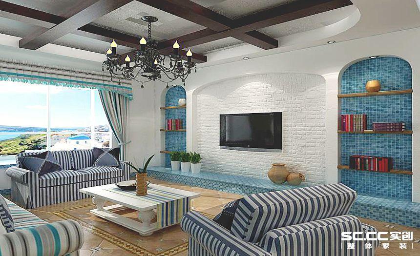 三居 白领 地中海装修 清新 客厅图片来自孙进进在120平小三房清新地中海的分享