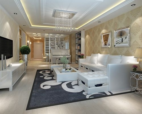 日升装饰 客厅图片来自装修设计芳芳在丰禾壹号140现代三居的分享