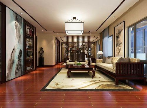 日升装饰 客厅图片来自装修设计芳芳在汇林·U家公馆中式别墅的分享