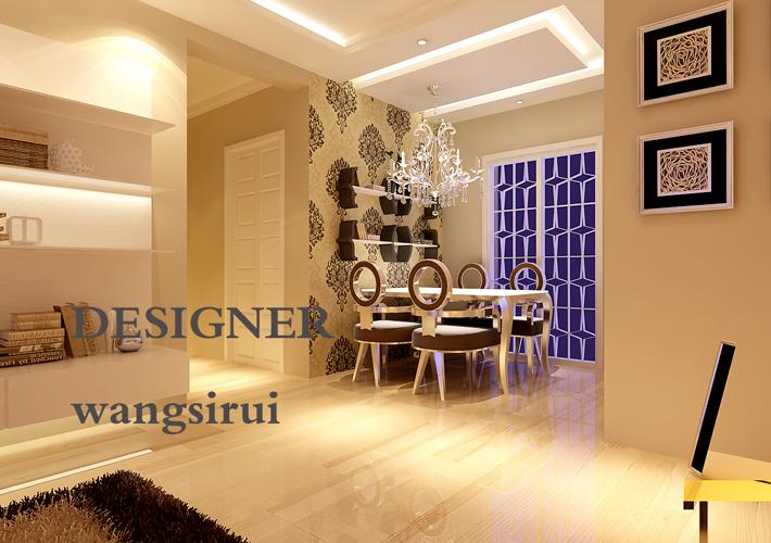 三居 样板间 现代 白领 小清新 餐厅图片来自百家装饰杨乐乐在华润幸福里的分享