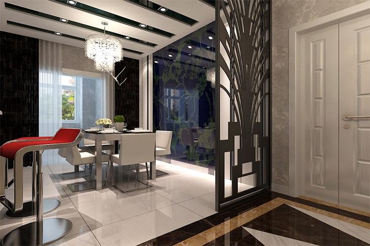 简约 欧式 小资 餐厅图片来自西安业之峰装饰在曲江兰亭——现代简欧的分享