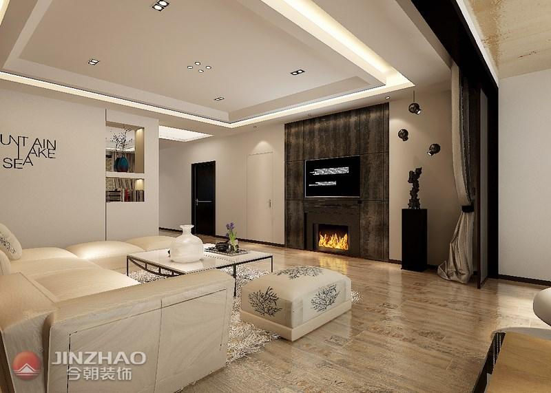 客厅图片来自阿布的小茅屋15034052435在复地东山国际210平米--现代的分享