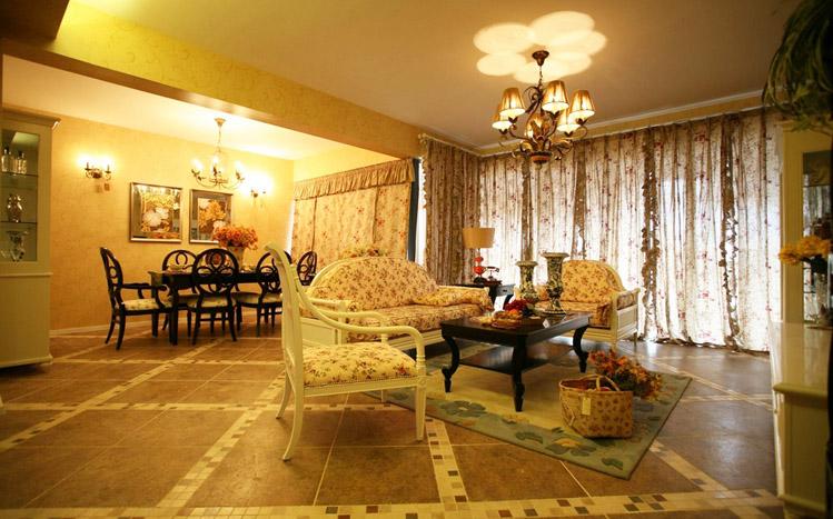 客厅图片来自南京实创装饰陈浩在温馨田园的分享