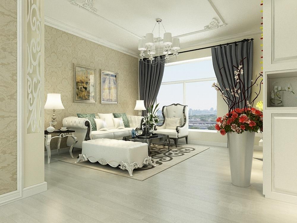 欧式 客厅图片来自阳光放扉er在春竹园-109㎡-欧式风格的分享