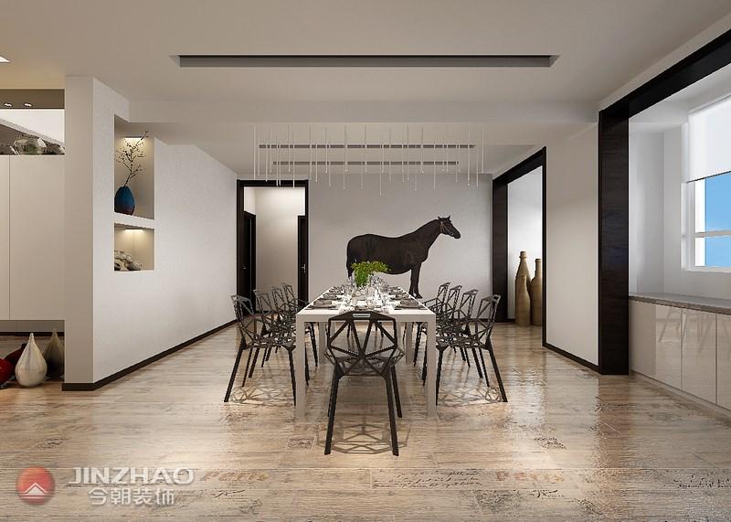餐厅图片来自阿布的小茅屋15034052435在复地东山国际210平米--现代的分享