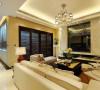 中式客厅装修设计是传统与现代居室风格的碰撞,设计师以现代的装饰手法和家具,结合古典中式的装饰元素。