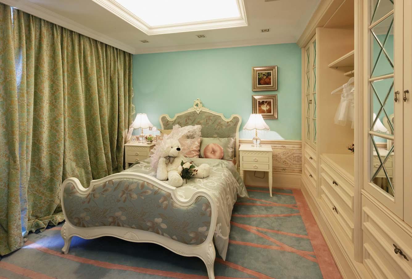 欧式风格 北京装修 装修风格 室内设计 装修设计 卧室图片来自别墅装修设计yan在欧式风格鸿坤·林语墅的分享