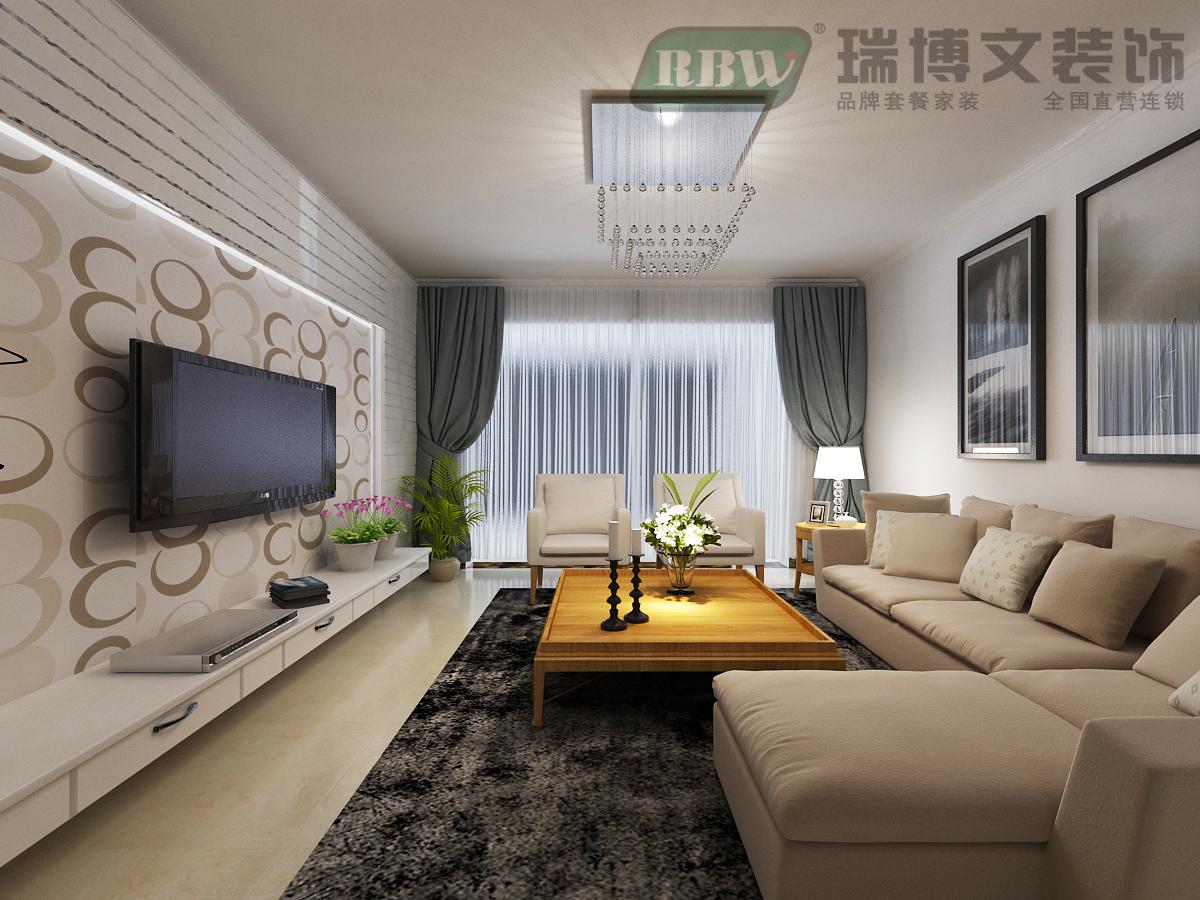 现代简约 四居 白领 小资 80后 客厅图片来自冰花-11在【奥北公元】168㎡经典简约的分享
