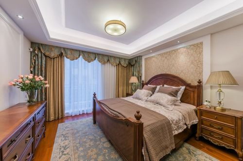 日升装饰 卧室图片来自装修设计芳芳在金泰假日花城美式四居的分享