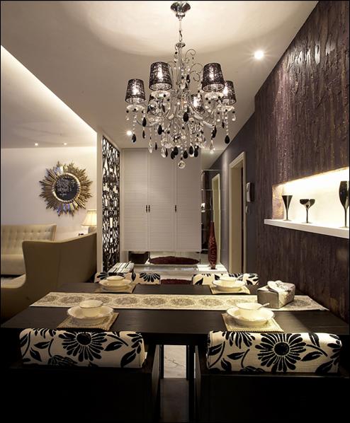 简约 混搭 三居 白领 收纳 旧房改造 餐厅图片来自紫禁尚品国际装饰公司在现代简约首开香溪郡公寓设计的分享