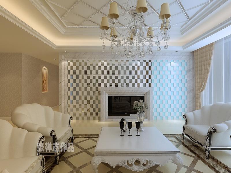 别墅 简欧 大气 客厅图片来自快乐彩在卓越蔚蓝群岛,简欧装修风格的分享