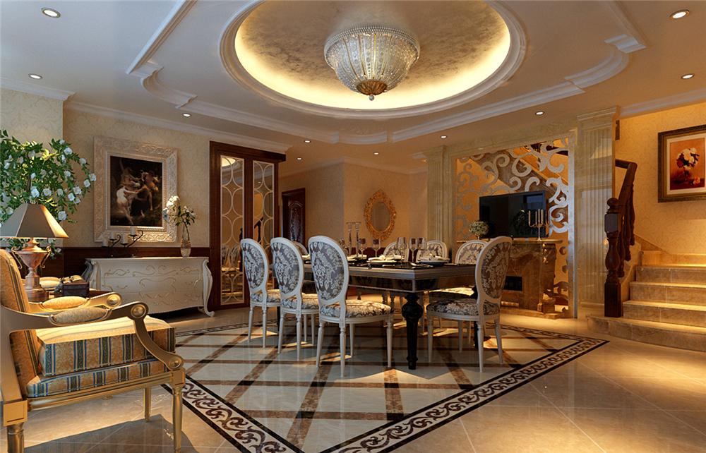 欧式 别墅 白领 收纳 80后 小资 餐厅图片来自实创装饰完美家装在欧郡香水城346平西式古典风格的分享