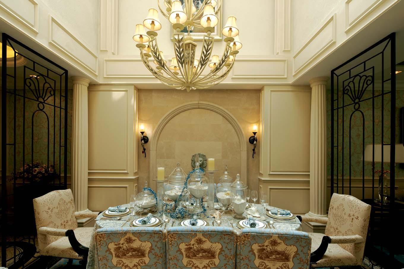 欧式风格 北京装修 装修风格 室内设计 装修设计 餐厅图片来自别墅装修设计yan在欧式风格鸿坤·林语墅的分享