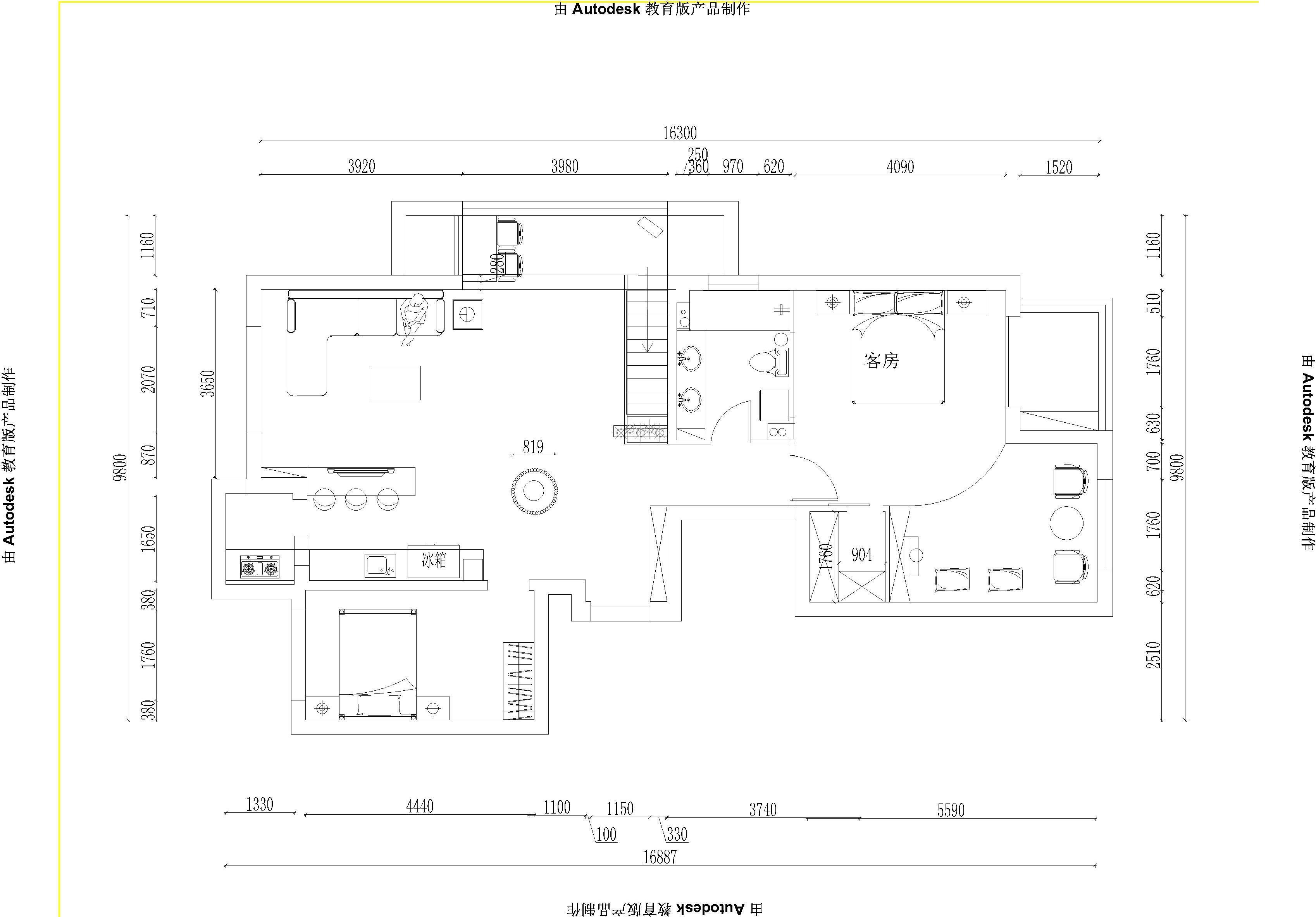 简约 别墅 户型图图片来自实创装饰上海公司在减法原则简约风格设计的分享
