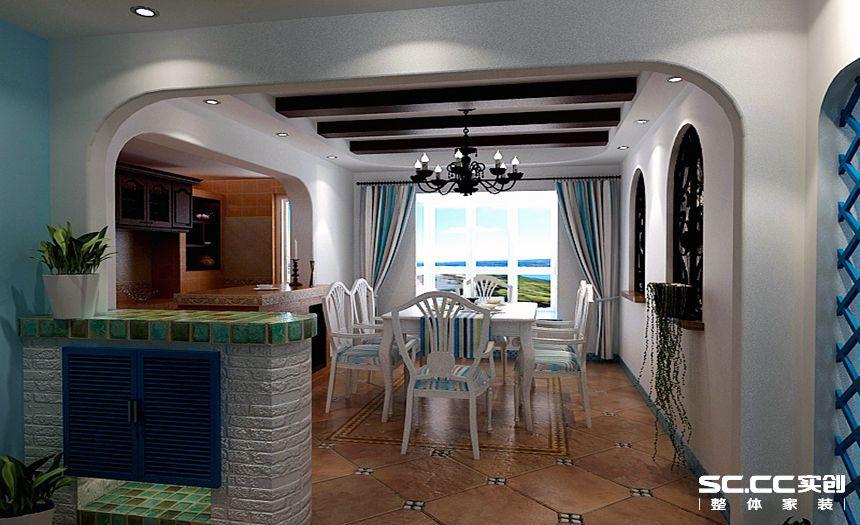 三居 白领 地中海装修 清新 餐厅图片来自孙进进在120平小三房清新地中海的分享