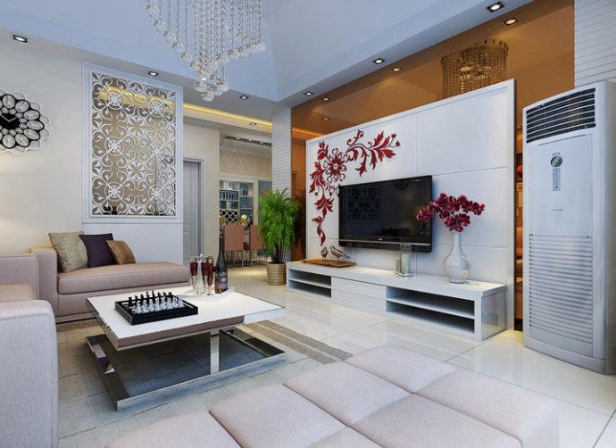 林溪湾 地中海 两居 家装 整体 客厅图片来自郑州实创装饰啊静在林溪湾90平地中海两居的分享