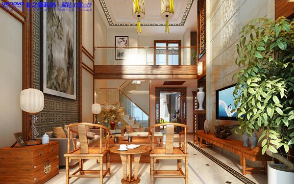新中式 复式 小资 客厅图片来自业之峰在线服务的猫在曲江诸子阶——新中式风格的分享