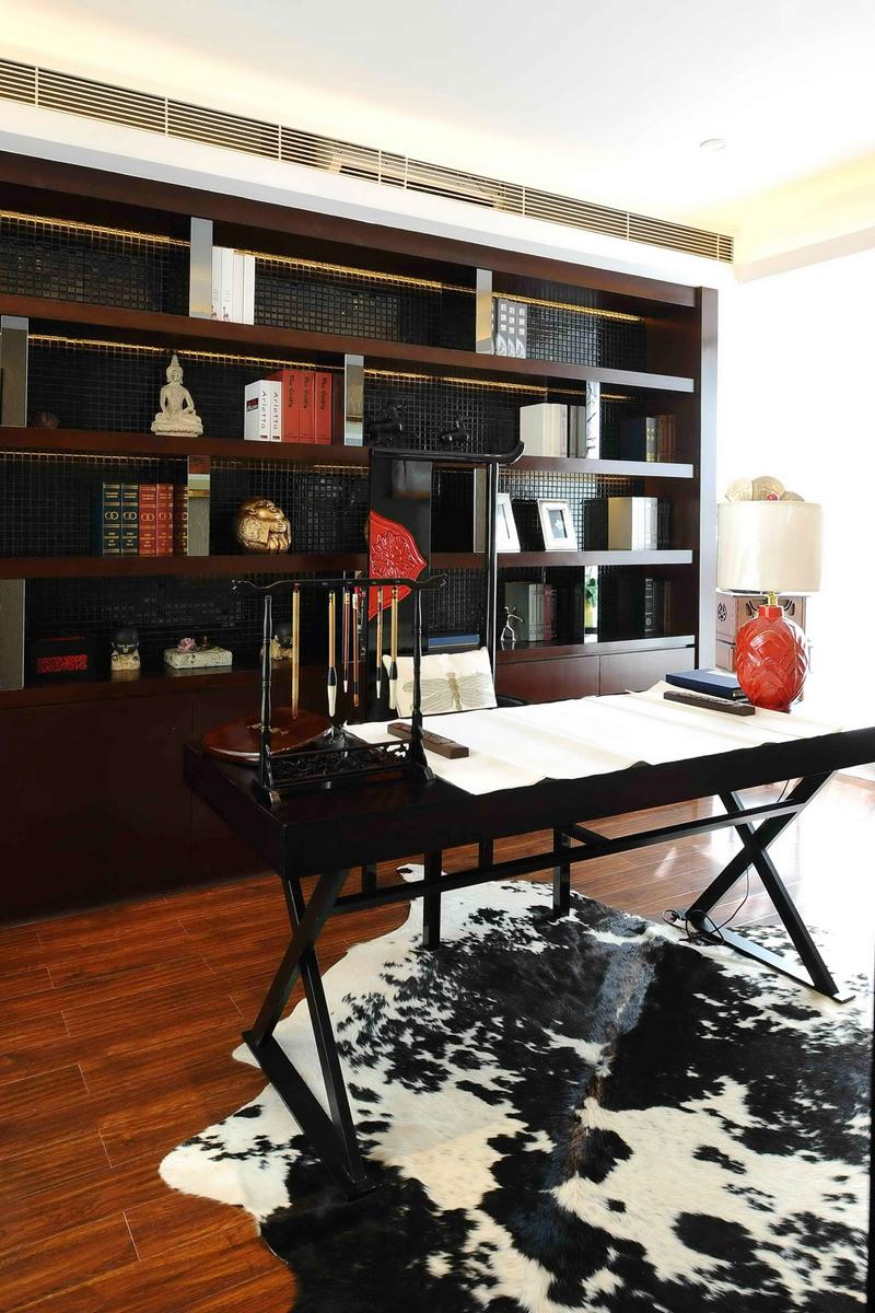 简约 别墅装修 软装配饰 方案设计 二手房 书房图片来自北京别墅装修-紫禁尚品在世茂维拉中式风格装修设计的分享