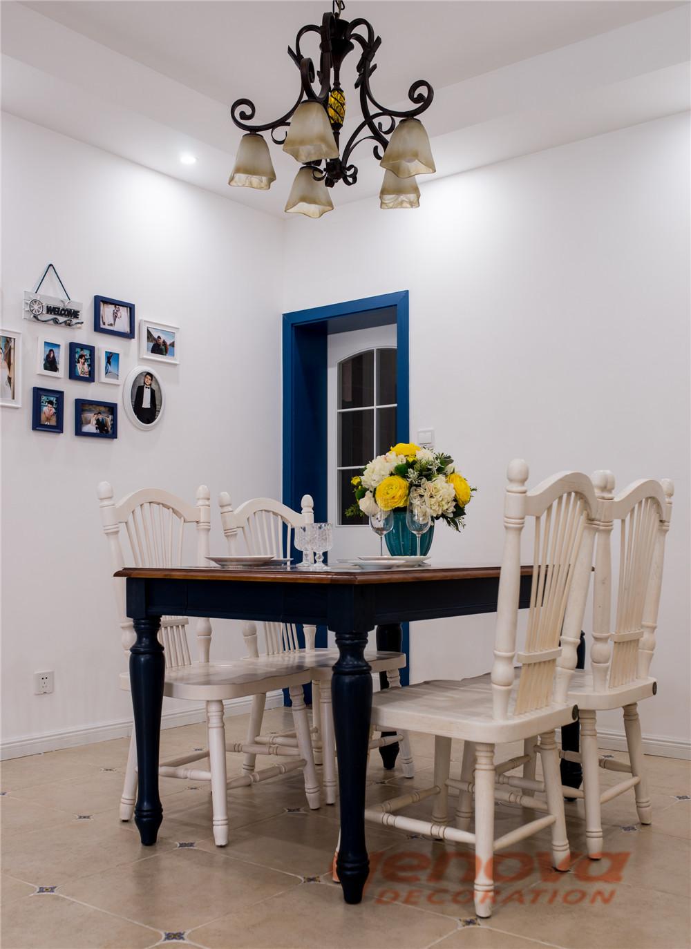 餐厅图片来自成都业之峰装修小管家在天府世家113平地中海风格的分享