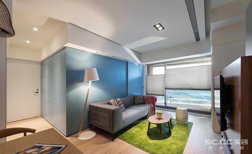 二居 三居 田园 欧式 简约 旧房改造 客厅图片来自实创装饰晶晶在新里崴廉公馆105平三居现代简约的分享