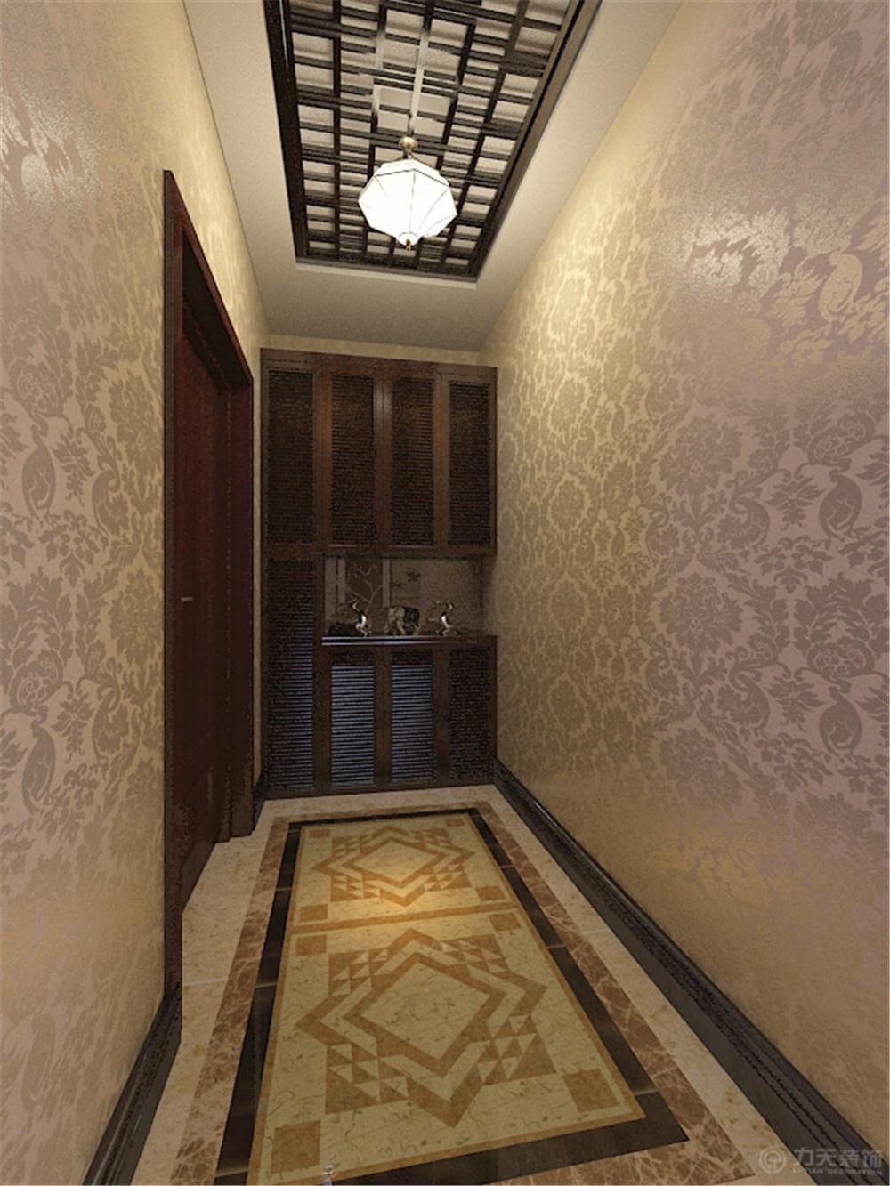 新中式 简约 三居 白领 小资 旧房改造 收纳 玄关图片来自阳光力天装饰在力天装饰-玺岳138㎡的分享