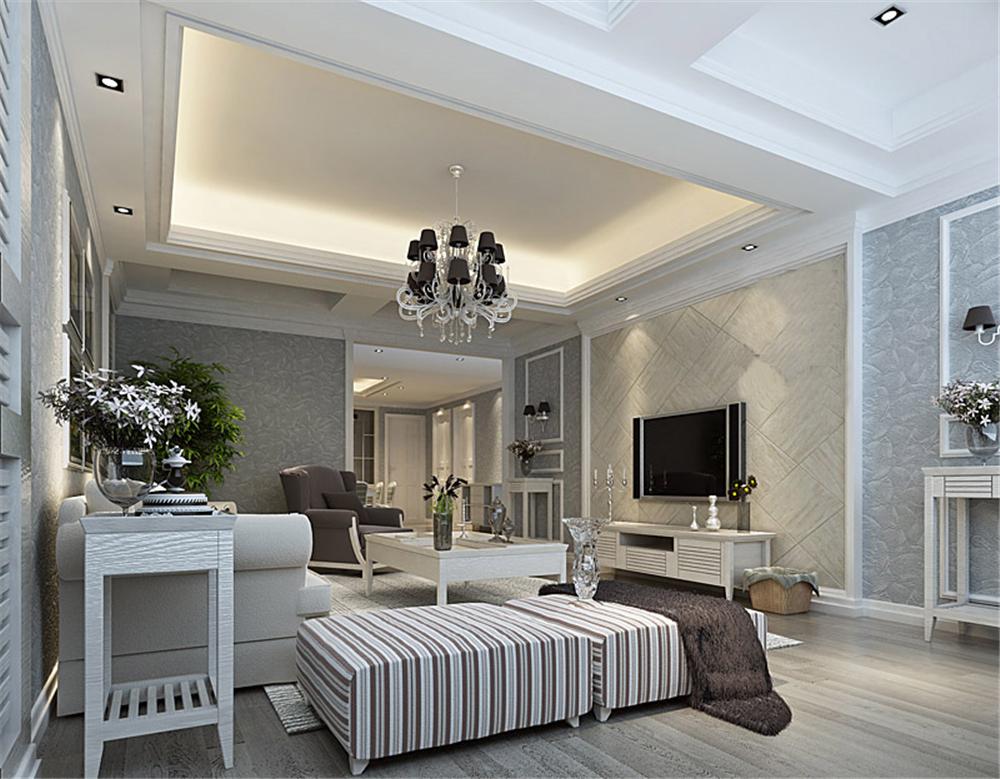 白领 收纳 旧房改造 80后 小资 客厅图片来自实创装饰完美家装在雍景四季178平简欧风格案例赏析的分享