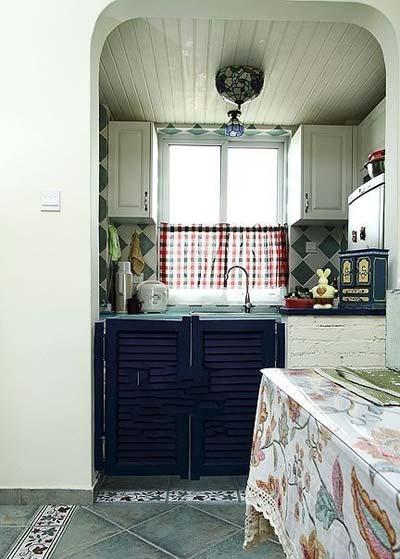 田园 简约 80后 小资 厨房图片来自实创苗苗在【实创装饰】保利拉菲蓝色调田园的分享